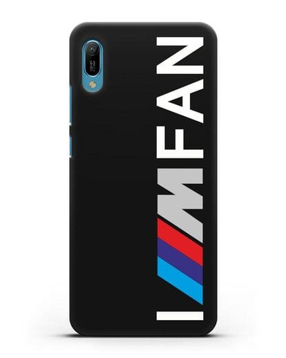 Чехол BMW M серии I am fan силикон черный для Huawei Y6 2019