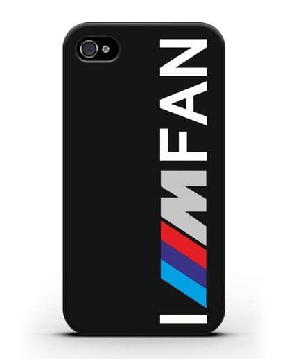 Чехол BMW M серии I am fan силикон черный для iPhone 4/4s