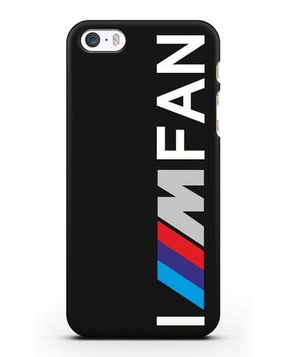 Чехол BMW M серии I am fan силикон черный для iPhone 5/5s/SE