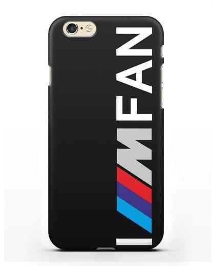 Чехол BMW M серии I am fan силикон черный для iPhone 6s