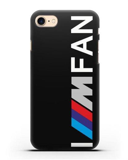 Чехол BMW M серии I am fan силикон черный для iPhone 8