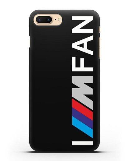 Чехол BMW M серии I am fan силикон черный для iPhone 8 Plus