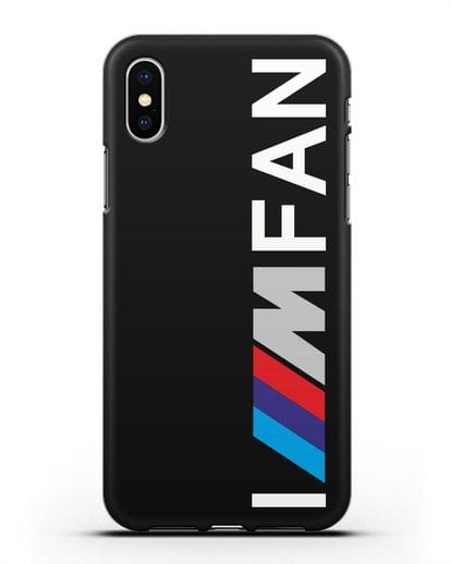 Чехол BMW M серии I am fan силикон черный для iPhone XS