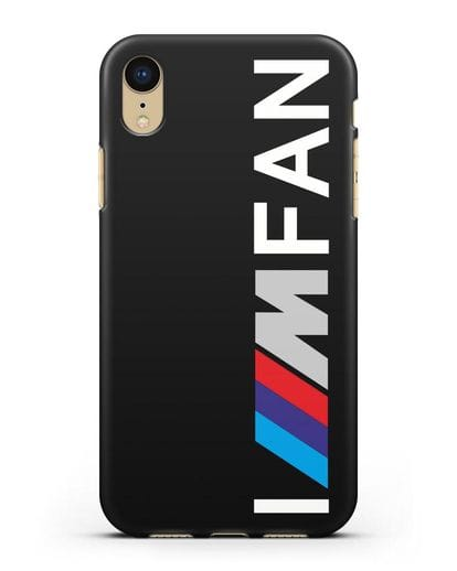 Чехол BMW M серии I am fan силикон черный для iPhone XR