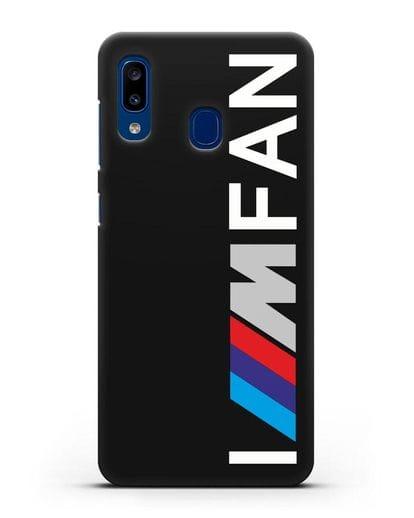 Чехол BMW M серии I am fan силикон черный для Samsung Galaxy A20 [SM-A205FN]