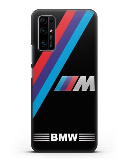 Чехол с логотипом BMW M Series силикон черный для Honor 30 Pro