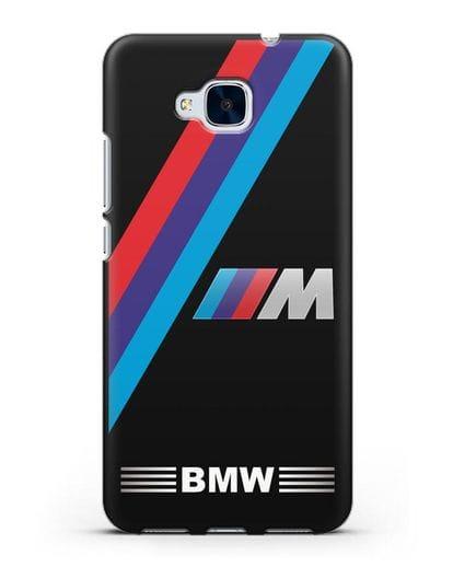 Чехол с логотипом BMW M Series силикон черный для Honor 5C
