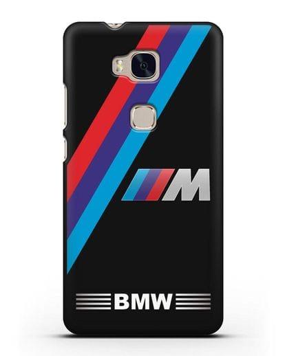 Чехол с логотипом BMW M Series силикон черный для Honor 5X
