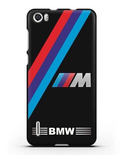 Чехол с логотипом BMW M Series силикон черный для Honor 6