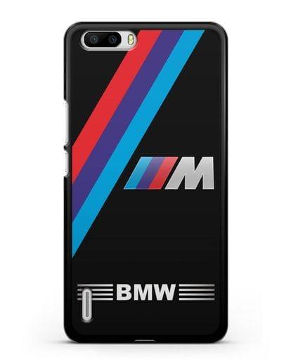 Чехол с логотипом BMW M Series силикон черный для Honor 6 Plus