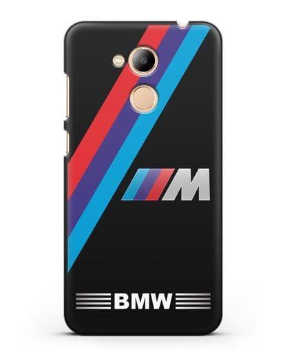 Чехол с логотипом BMW M Series силикон черный для Honor 6C Pro