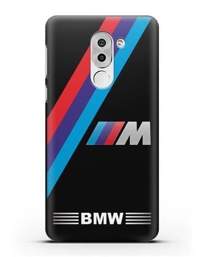 Чехол с логотипом BMW M Series силикон черный для Honor 6X