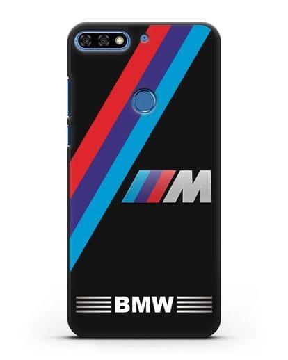 Чехол с логотипом BMW M Series силикон черный для Honor 7C Pro