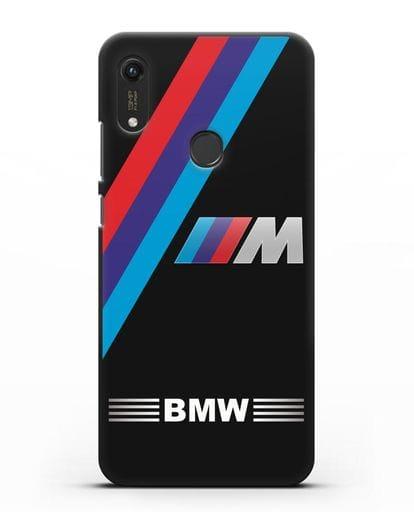 Чехол с логотипом BMW M Series силикон черный для Honor 8A Prime