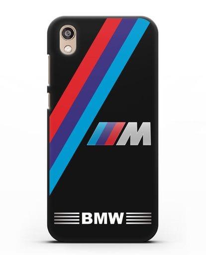 Чехол с логотипом BMW M Series силикон черный для Honor 8S Prime