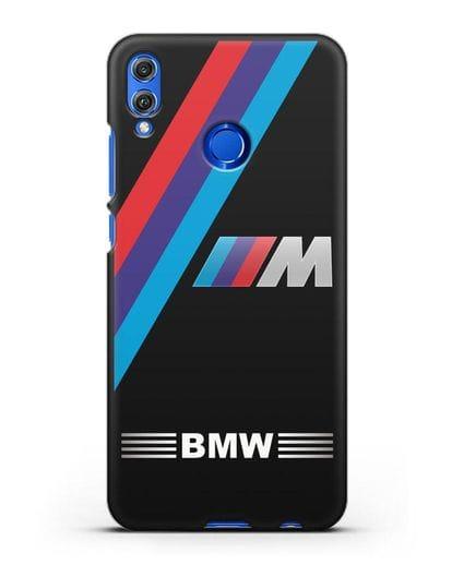 Чехол с логотипом BMW M Series силикон черный для Honor 8X