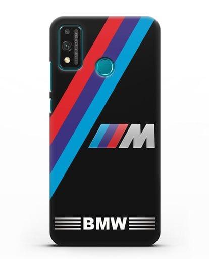 Чехол с логотипом BMW M Series силикон черный для Honor 9X lite