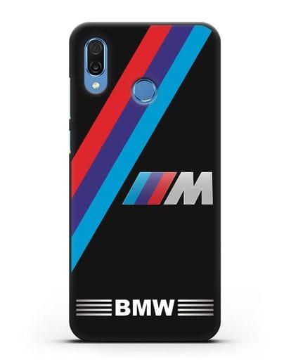Чехол с логотипом BMW M Series силикон черный для Honor Play