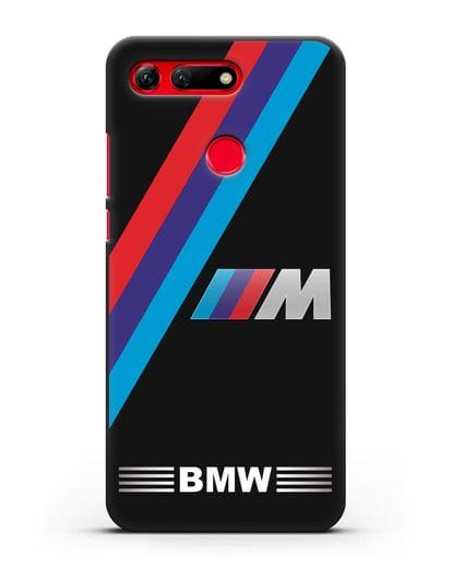 Чехол с логотипом BMW M Series силикон черный для Honor View 20