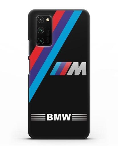 Чехол с логотипом BMW M Series силикон черный для Honor View 30 Pro