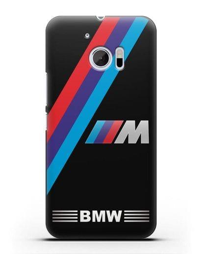Чехол с логотипом BMW M Series силикон черный для HTC 10