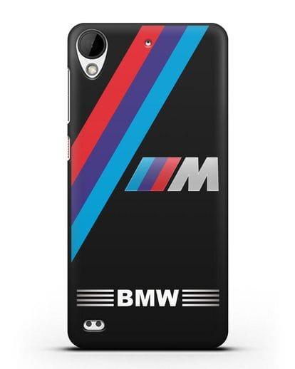 Чехол с логотипом BMW M Series силикон черный для HTC Desire 530