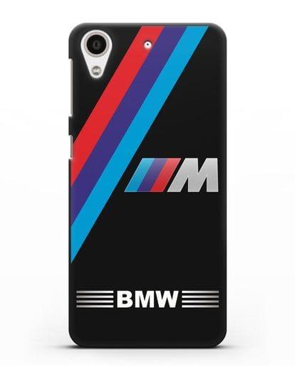 Чехол с логотипом BMW M Series силикон черный для HTC Desire 626
