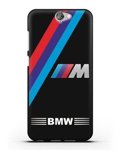 Чехол с логотипом BMW M Series силикон черный для HTC One A9