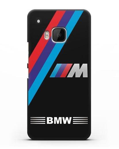Чехол с логотипом BMW M Series силикон черный для HTC One M9