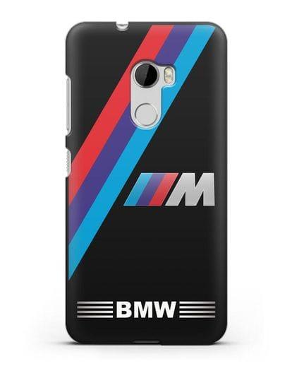 Чехол с логотипом BMW M Series силикон черный для HTC One X10