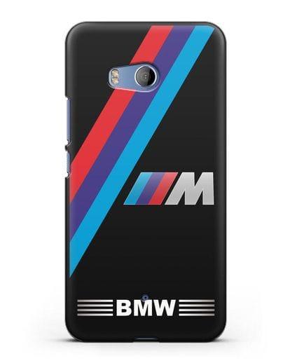 Чехол с логотипом BMW M Series силикон черный для HTC U11