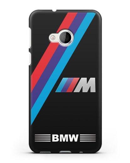Чехол с логотипом BMW M Series силикон черный для HTC U Play