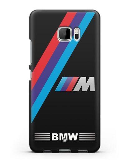 Чехол с логотипом BMW M Series силикон черный для HTC U Ultra