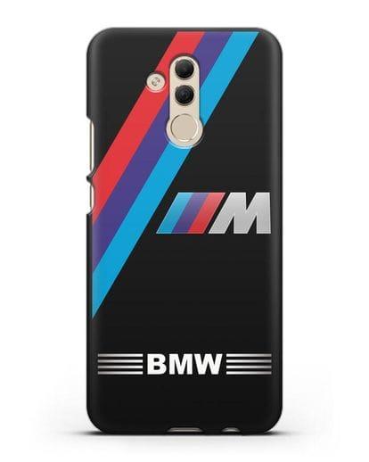 Чехол с логотипом BMW M Series силикон черный для Huawei Mate 20 Lite