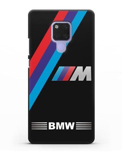 Чехол с логотипом BMW M Series силикон черный для Huawei Mate 20X