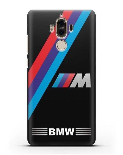 Чехол с логотипом BMW M Series силикон черный для Huawei Mate 9