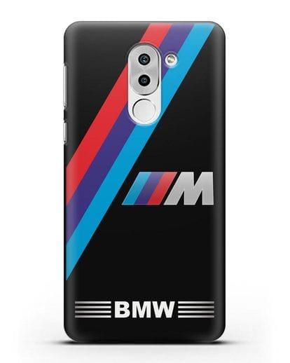 Чехол с логотипом BMW M Series силикон черный для Huawei Mate 9 Lite