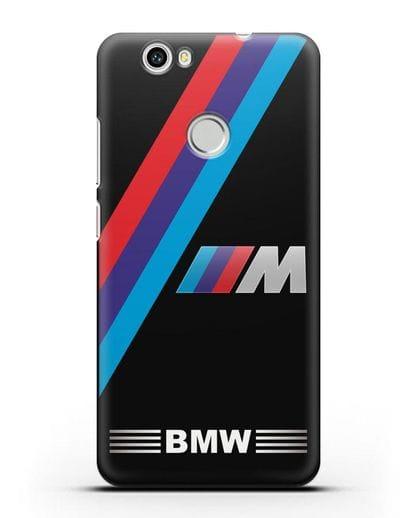 Чехол с логотипом BMW M Series силикон черный для Huawei Nova