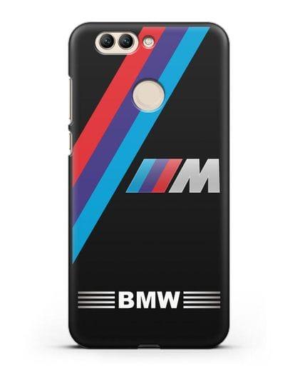 Чехол с логотипом BMW M Series силикон черный для Huawei Nova 2 Plus