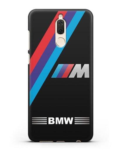 Чехол с логотипом BMW M Series силикон черный для Huawei Nova 2