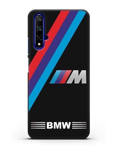 Чехол с логотипом BMW M Series силикон черный для Huawei Nova 5T