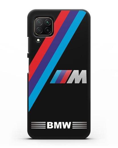 Чехол с логотипом BMW M Series силикон черный для Huawei Nova 7i