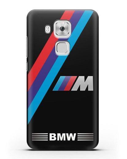 Чехол с логотипом BMW M Series силикон черный для Huawei Nova Plus