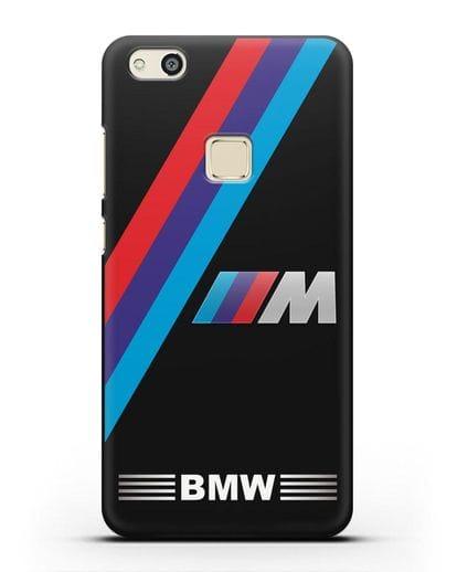 Чехол с логотипом BMW M Series силикон черный для Huawei P10 Lite