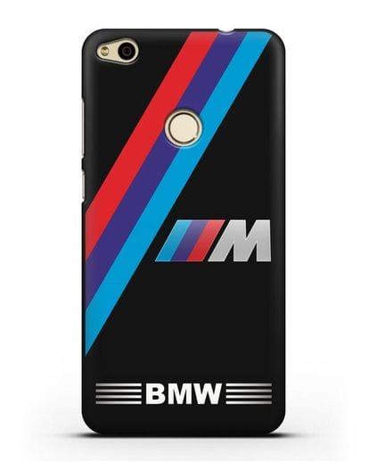 Чехол с логотипом BMW M Series силикон черный для Huawei P8 Lite 2017
