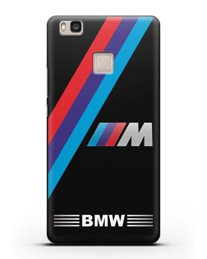 Чехол с логотипом BMW M Series силикон черный для Huawei P9 Lite