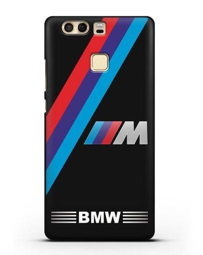 Чехол с логотипом BMW M Series силикон черный для Huawei P9 Plus