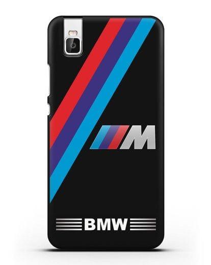 Чехол с логотипом BMW M Series силикон черный для Huawei Shot X