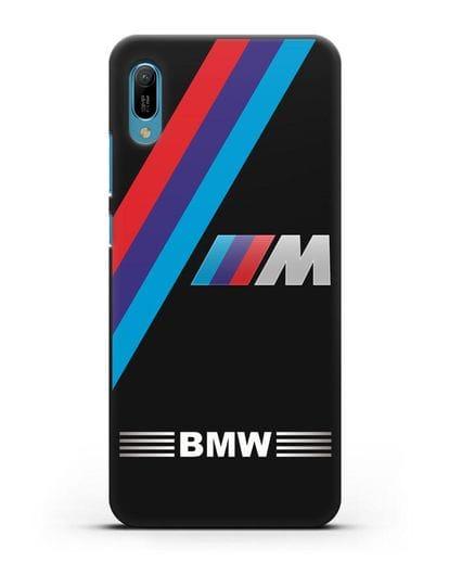 Чехол с логотипом BMW M Series силикон черный для Huawei Y6 2019