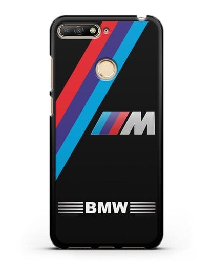 Чехол с логотипом BMW M Series силикон черный для Huawei Y6 Prime 2018
